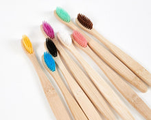 Load image into Gallery viewer, Natural Coloured Bamboo Toothbrushes image 1