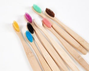 Natural Coloured Bamboo Toothbrushes image 1