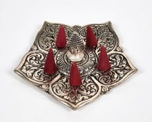 Load image into Gallery viewer, Buddha Pointed Leaf Aluminium Incense Holder image 5