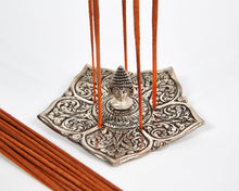 Load image into Gallery viewer, Buddha Pointed Leaf Aluminium Incense Holder image 1