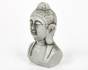 Grey Buddha Head, Rustic Stone Effect, Buddha Ornament, Indian Statue, Indian Art, Buddhist Home decor, home presents, home gifts