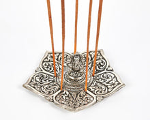 Load image into Gallery viewer, Ganesh Pointed Leaf Aluminium Incense Holder image 1