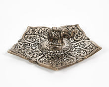 Load image into Gallery viewer, Elephant Pointed Leaf Aluminium Incense Holder image 1