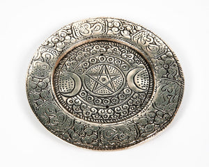 Triple Moon Round Plate 2 Hole Aluminium Incense Burner image 4