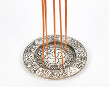 Load image into Gallery viewer, Ohm Round Plate 5 Hole Aluminium Incense Burner image 1