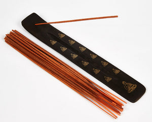 Buddha Black & Gold Mango Incense Holder image 1