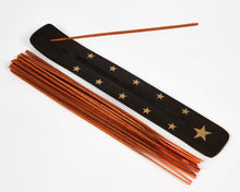 Load image into Gallery viewer, Star Black & Gold Mango Wood Incense Holder image 1