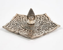 Load image into Gallery viewer, Buddha Pointed Leaf Aluminium Incense Holder image 2