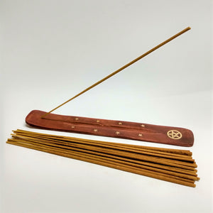 Pentagram Brass Inlaid Incense Holder image 1