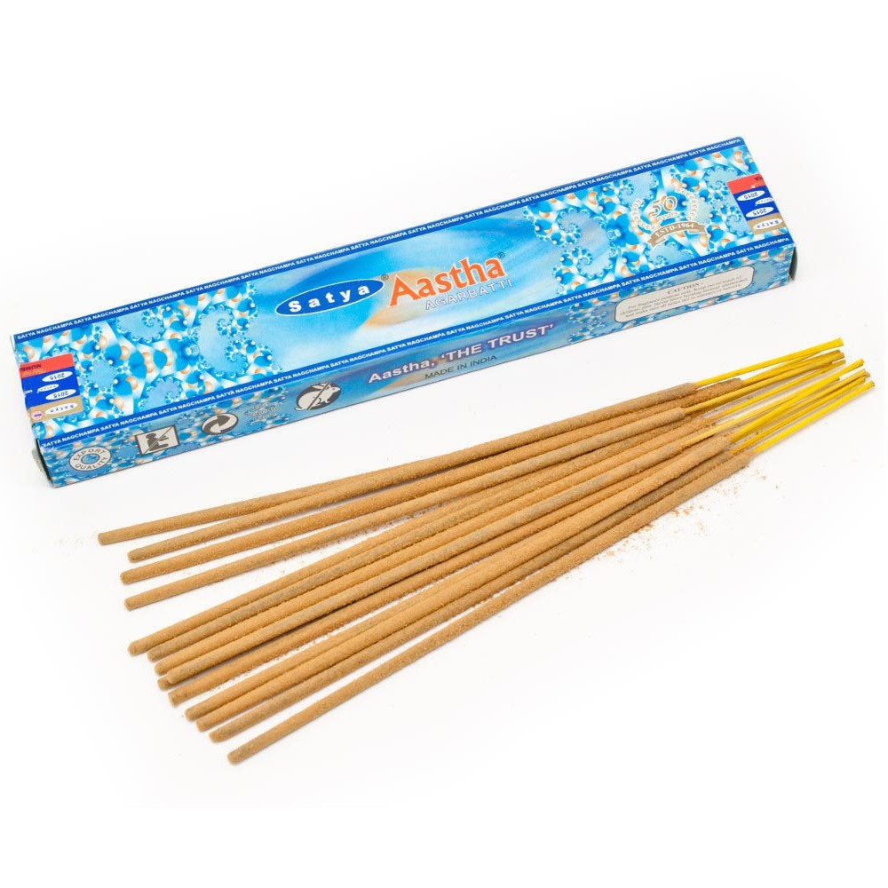 Satya Aastha boxed Incense with Bamboo Incense Holder