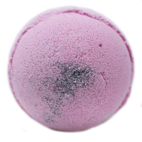Natural Eco Friendly Bath Bomb, Bubblegum Sparkle Skin Kind Shea Butter Large Bath Bomb Gift Wrapped Plastic Free Packaging