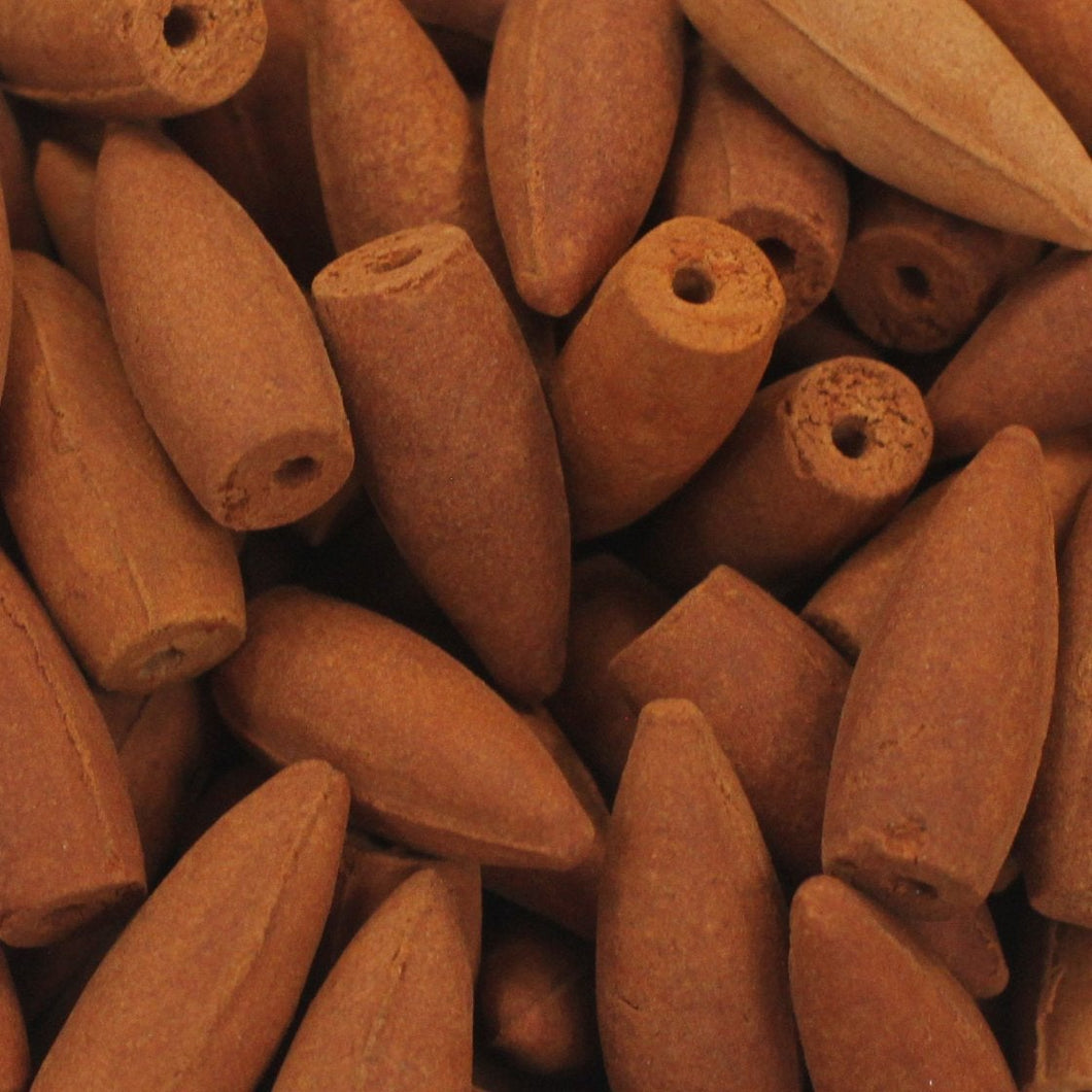 Sandalwood Backflow Incense Cones - Natural, Eco Friendly Back flow Incense cones for Backflow Incense Holder, Back Flow Burner