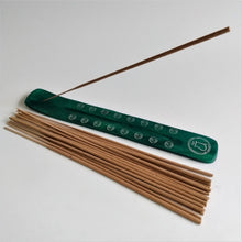 Load image into Gallery viewer, Green Heart Chakra Bamboo Incense Holder image 1