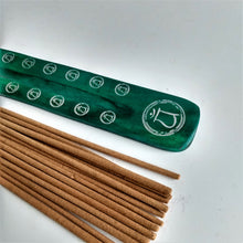 Load image into Gallery viewer, Green Heart Chakra Bamboo Incense Holder image 3
