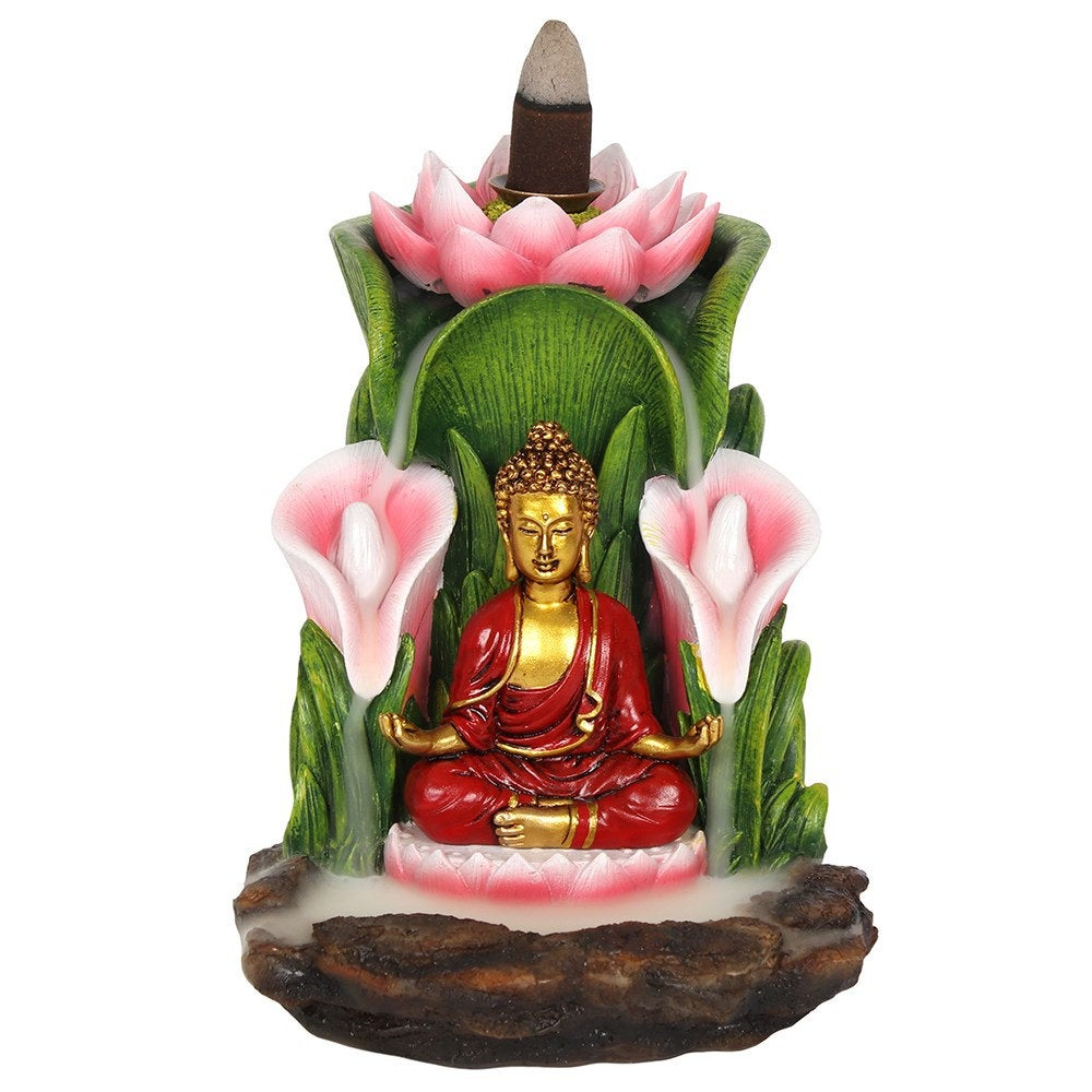 Large Colorful Buddha Statue Backflow Incense Burner image 1