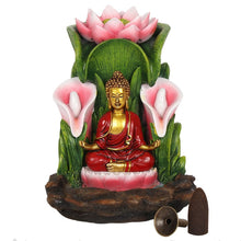 Load image into Gallery viewer, Large Colorful Buddha Statue Backflow Incense Burner image 3