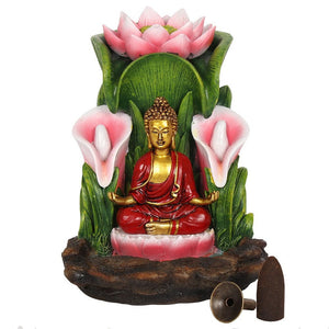 Large Colorful Buddha Statue Backflow Incense Burner image 3