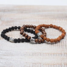 Load image into Gallery viewer, Fragrant Sandal Beads Buddha Bracelet image 3