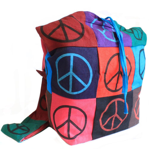 Peace Pure Cotton Patch Sling Bags image 1