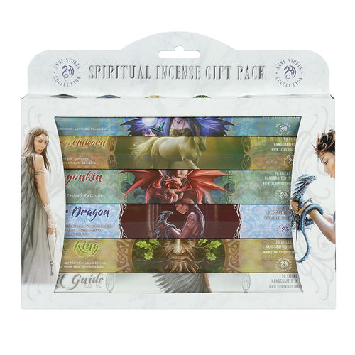 Spiritual Incense Sticks Gift Pack Display Box, Natural Eco Incense Sticks, Incense Holder, Incense Burner, Ash Catcher Bulk, Anne Stokes Art