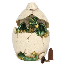 Load image into Gallery viewer, Electric Green Dragon Egg Cave Backflow Incense Burner image 4