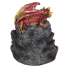 Load image into Gallery viewer, Light Up Big Dragon Crystal Cave Backflow Incense Burner Back flow Incense Holder. 12 Free Natural Eco Friendly Vegan Backflow Incense Cones