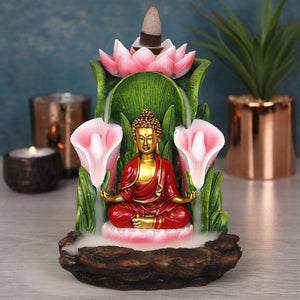 Large Colorful Buddha Statue Backflow Incense Burner image 4