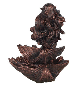 Bronze Mermaid On Seashells Backflow Incense Burner image 3