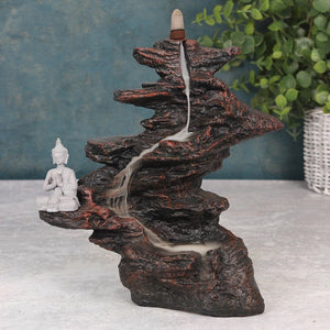 Buddha On Rocks Backflow Incense Burner image 1