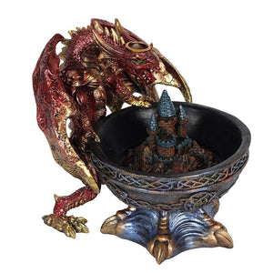 Light Up Backflow Burner Giant 1.2KG Dragon Smoking Cauldron Backflow Incense Burner Holder 12 Free Natural Eco Vegan Backflow Incense Cones