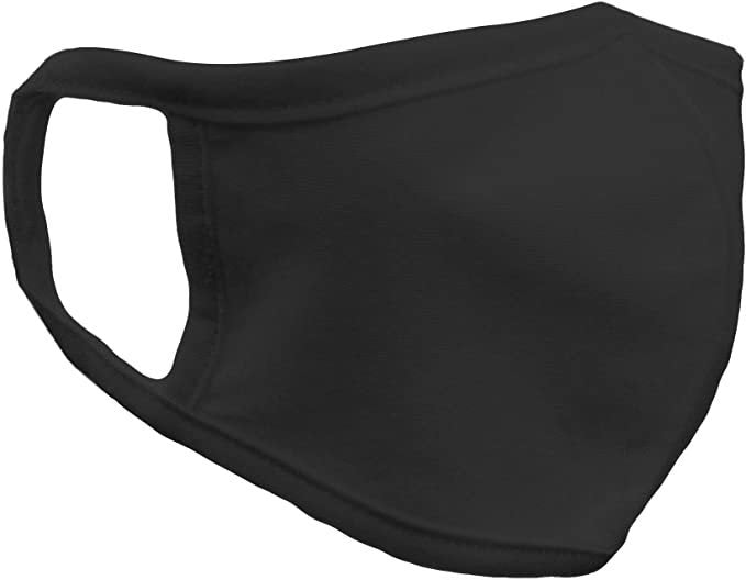 Black Unisex Reusable Cotton Face Mask image 1