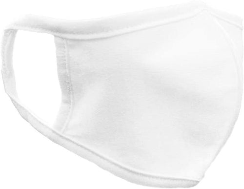 White Unisex Reusable Cotton Face Mask image 1
