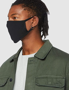 Men's Black Reusable Cotton Face Mask image 1