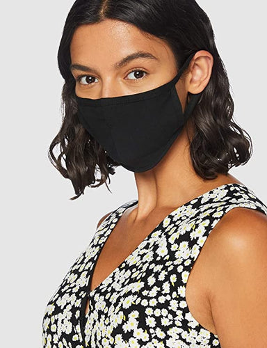 Ladies Black Reusable Cotton Face Mask image 1