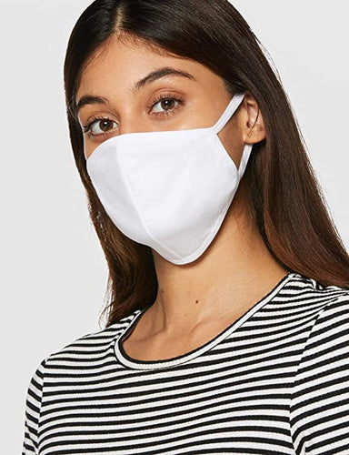 Ladies White Reusable Cotton Face Mask image 1