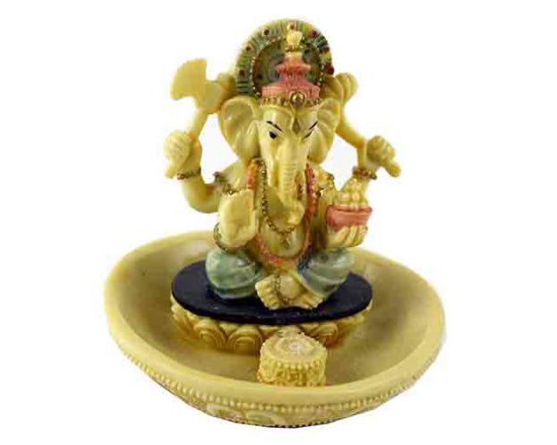 Sitting Ganesh Incense Holder, 20 Free Incense Sticks