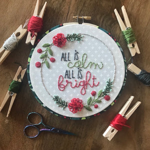All is Calm  Downloadable PDF Embroidery Pattern