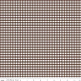 "1/8"" Small Gingham Check Brown C440-90"