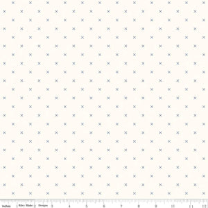 Bee Backgrounds Cross Stitch Blue C6381-Blue