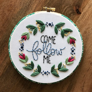 Come Follow Me Downloadable PDF Embroidery Pattern