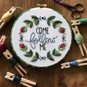 Come Follow Me Embroidery Kit