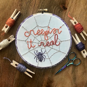 Creepin' It Real Embroidery Pattern