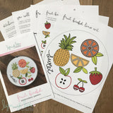 """Fruit Basket"" Downloadable PDF Embroidery Pattern"