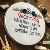 Warning Embroidery Kit