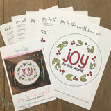 """Joy to the World"" Downloadable PDF Embroidery Pattern"