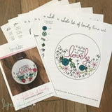 """You're a Whole Lot of Lovely"" Downloadable PDF Embroidery Pattern"