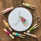 """Monogram"" Downloadable PDF Embroidery Pattern"
