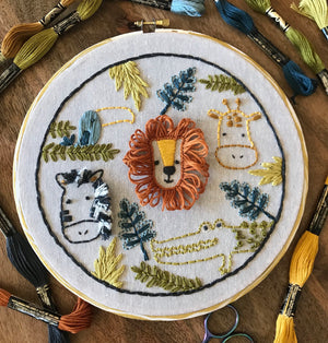 Safari Embroidery Kit