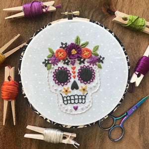 Sugar Skull Downloadable PDF Embroidery Pattern