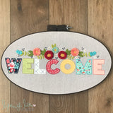 """Welcome"" Downloadable PDF Embroidery Pattern"